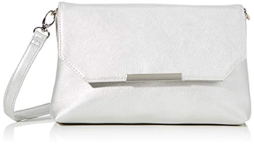 TOM TAILOR Umhängetasche Damen Kenza, (Silber), 24x14x4.5 cm, TOM TAILOR Handtaschen, Taschen für Damen