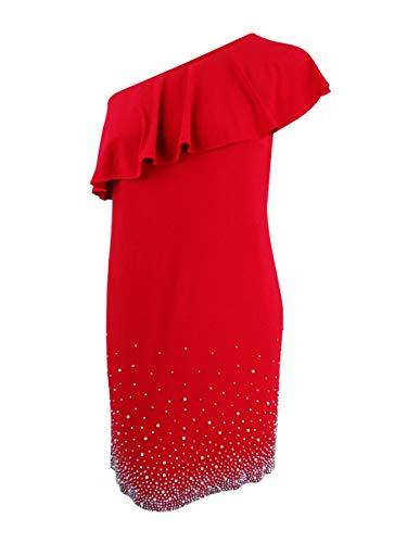 MSK Women Womens Plus Party Club Wear Cocktail Dress Red 2X