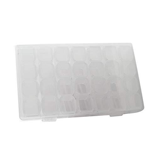 28 Compartimento de Rejilla Caja de Medicina Transparente Embalaje de joyería Caja de plástico extraíble Caja de Almacenamiento de Herramientas de Arte de uñas