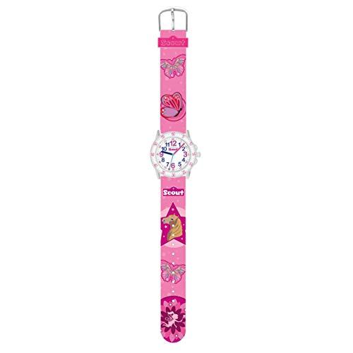 Scout Mädchen Analog Quarz Uhr mit Textil Armband 378.013
