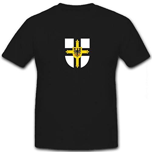 Deutscher Orden Ritterorden Adler Kreuz Ritter Fahne Wappen - T Shirt #8575, Größe:XL, Farbe:Schwarz
