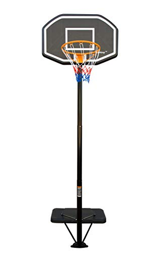 HaoKang Residential Portable Basketball Hoop Official 10' Height Adjustable with 44