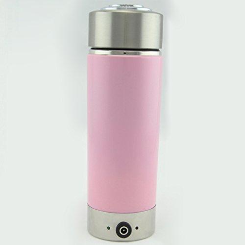 Tasse de chauffage de voiture, bouilloire électrique, bouilloire, capacité de 12V, 380ML, acier inoxydable 304 ( Color : Pink )