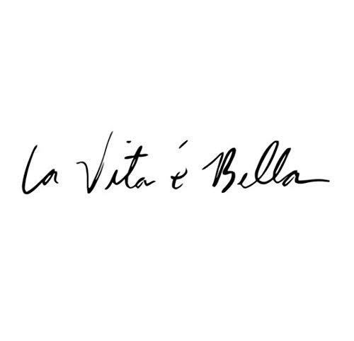 WOO LANDO 1 Stück La Vita é Bella XL Vinyl Aufkleber 39x8cm - Das Leben ist Schön für Auto Tuning, Akzente setzen fürs Motorrad oder KFZ