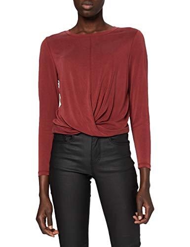 ONLY Damen ONLFREE Life L/S Twist Short TOP JRS Langarmshirt, Pomegranate, M