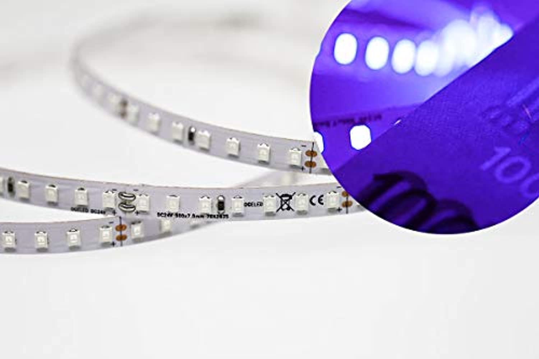 Ogeled superhelle Highpower Je meter 140xleds 15Watt LED-Strip led Streifen leisten flexibel selbstklebend 24V (UV, 9m)