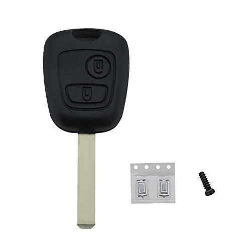 Carcasa de repuesto para llave de coche con 2 botones compatible con Xsara Picasso Berlingo C1 C2 C3 C4 C6 Xsara