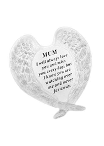 Redwood Mum Angel Wings Grave Ornament Memorial Graveside Decoration Special Remembrance