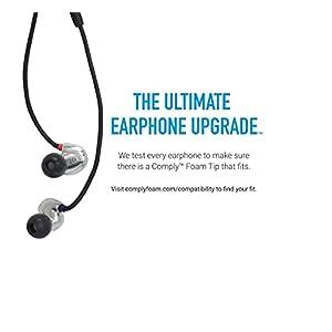Comply Comfort Plus Premium Memory Foam Earphone Tips, Audio-Technica, Bose QuietComfort 20, Denon, JVC, RHA, SoundMAGIC &More, Secure Noise Reducing Replacement Earbud Tips, Tsx-400 (Medium, 3 Pair)