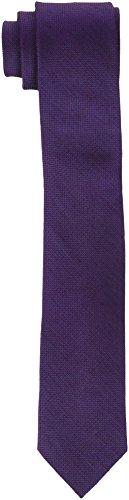 Calvin Klein Herren Krawatte Slim 6.4 Cm glatt, Mehrfarbig (Lila (Morado/Burgundy 605), One size