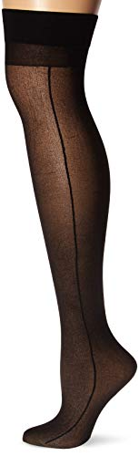Dreamgirl Women's Sheer Thigh-High Stockings with Backseam