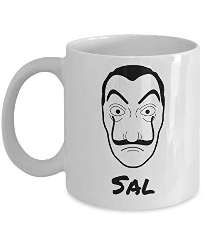 N\A Taza de café Divertida de la máscara de Sal Dali