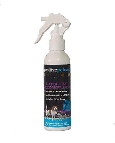 Positive Petcare Desinfektionsmittel für Katzentoiletten und Kleintierställe, Sprühflasche, antibakterielle Wirkung auf Wasserbasis, 100% sicher für Katzen und Kaninchen