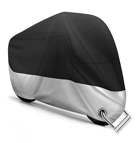 Yizhet Telo per Moto, Coprimoto Impermeabile Antipolvere, Anti UV, Escrementi di Uccelli, Anti Vento con Fori di Bloccaggio, per Moto Motorino Motocicletta Scooter - 245 x 105 x 125cm(XXL)