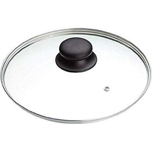 IBILI Glasdeckel Prisma, Edelstahl, transparent/Silber/schwarz, 18 cm