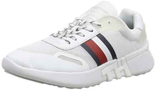 Tommy Hilfiger Damen Tommy Sporty Branded Runner Sneaker, Weiß (White Ybs), 39 EU