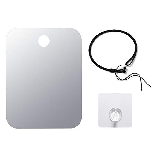 CozyCabin AntiFog Shower Mirror Portable Fogless Shaving Mirror for Bathroom
