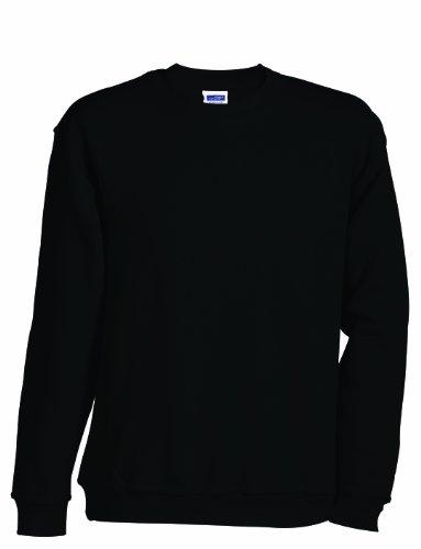 James & Nicholson Herren Round-Sweat-Heavy ÜG Sweatshirt, Schwarz (Black), XXXXX-Large