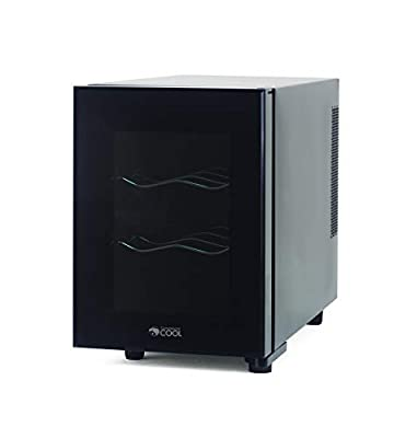 Commercial Cool CCWT060MB Thermal Electric 6 Bottle Wine Cellar, Black