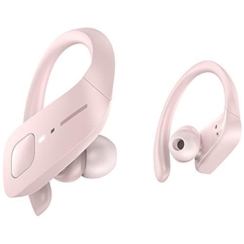 HolyHigh Bluetooth Kopfhörer Sport, Kabellose Kopfhörer in Ear, Sportkopfhörer Wireless Kopfhörer mit IPX7 Wasserdicht/ 35 Stunden Spielzeit/Automatische Koppelung für Laufen Training
