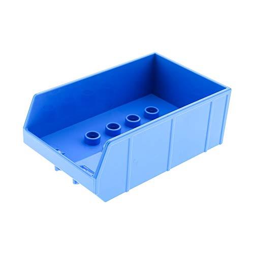 Bausteine gebraucht 1 x Lego Duplo Anhänger Aufsatz Azur blau Kipp Ladefläche Traktor Auto Bauernhof 10524 45007 45006 13607