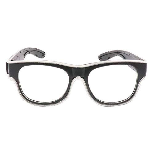 Glaray Kabellos LED Leuchtend Brille USB Wiederaufladbar LED Light Up Brillen Rave Party Leuchtende Sonnenbrille (Hellblau)