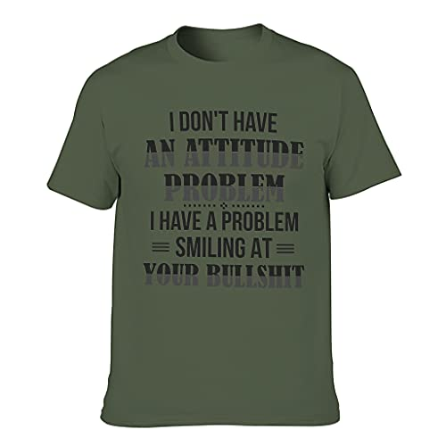 Lind88 Camiseta con texto 'I Don't Have an Attitude Problem', clásica para hombre, humor, sarcasmo