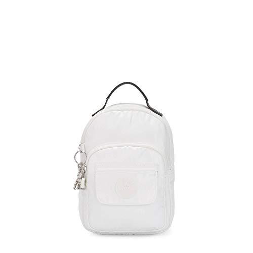 Kipling Alber 3-in-1 Convertible Mini Bag Rucksack Metallic, Weiá (Weiß Metallic), Einheitsgröße