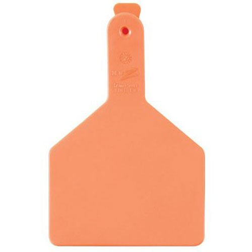 Z Tags 25 Count 1-Piece Blank Tags for Cows, Orange