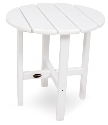 POLYWOOD RST18WH Round 18' Side Table, White