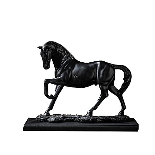 LGYKUMEG Vintage Harz Gold Pferd Statuen,Pferd Deko Statue,Moderne Skulptur Für Schreibtisch Dekor, Art Figur Dekorative Skulptur,Home Desk Dekor Ornament Foto Prop,B,24 * 8 * 23CM