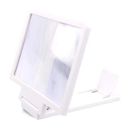 Bildschirmverstärker Handy Lupe Hd Stand Augenschutz Telefonhalter Weiß