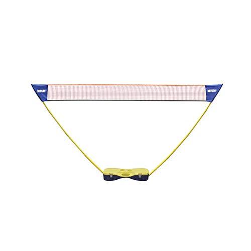 WQJ Badmintonnetz Outdoor, Den Garten Tennisnetz Windwiderstand Multifunktionsnetz Höhenverstellbar Von Turnierklasses Badminton Netz, 3m,1.55myellow