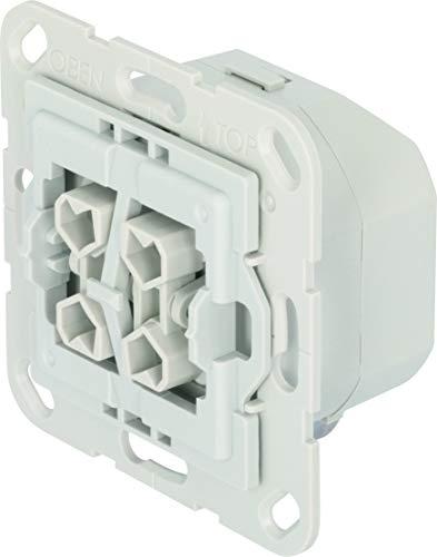 TechniSat Smart-Home - Interruptor de persiana con doble balancín (caja empotrada, Z-Wave Plus, control inteligente de persianas mediante aplicación, compatible con interruptor de marca Gira