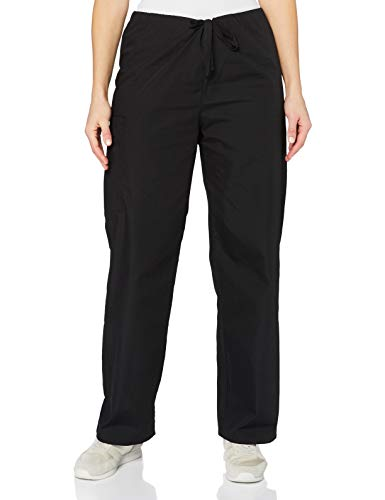 Adar Universal Pantalon Médical Unisexe - Pantalon Fuselé avec Cordon - 504 - Black - 2X