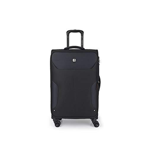 Gabol - Nordic | Maletas de Viaje Medianas de 42 x 70 x 28 cm con Capacidad para 65 L de Color Negro