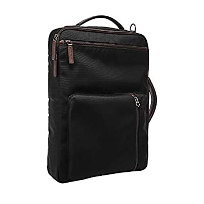 Fossil Men's Buckner Convertible Backpack, Black Fabric, One Size