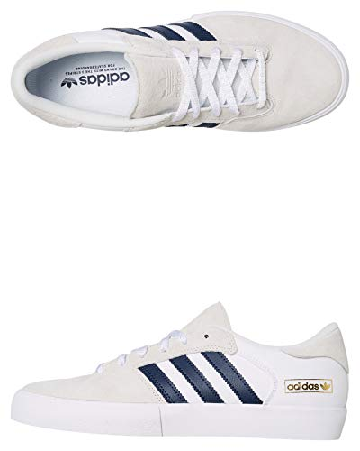 adidas Skateboarding Matchbreak Super, Crystal White-Collegiate Navy-Footwear White, 4,5