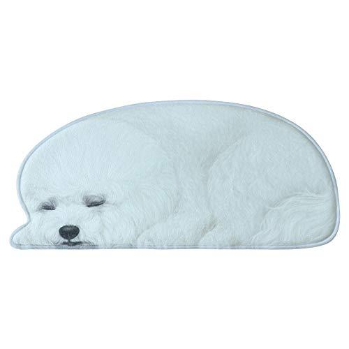 3D Hundemantel, waschbare Fußmatte Comfort Bad Boden Pad Schlafzimmer Nachttisch Kreative rutschfeste Teppich 43 * 87 cm / 61 * 127 cm Persönlichkeit Teppich ( Color : V , Size : 61*127cm/24.01*50in )