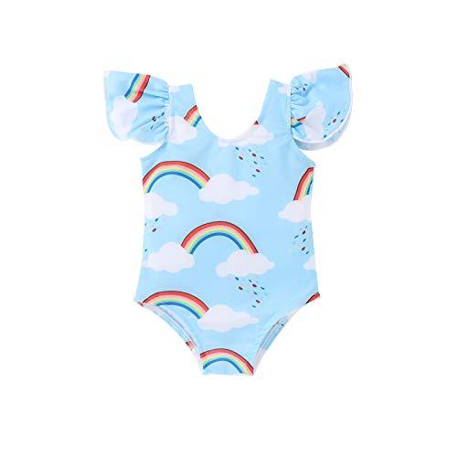 YANFANG Traje de baño para niña, de una Pieza del Bikini del Arco Iris del Bikini de Las Muchachas del bebé de los niños pequeños Ropa de Playa