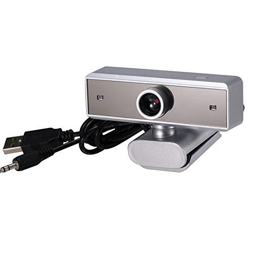 640P Webcam en vivo de webcam con micrófono 360 grados giratoria cámara web USB for PC portátil con clip de la cámara for la celebración de conferencias de vídeo juego de escritorio de oficina Instala