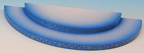 Wolke - 2-stufig - blau - 27x12x2cm / Weihnachtsengel - Original Erzgebirge Engel -Kunstgewerbe Uhlig