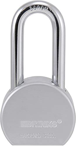 Brinks 672-52701 Commercial 2.5-Inch.Solid Steel Lock with Boron Long Shackle