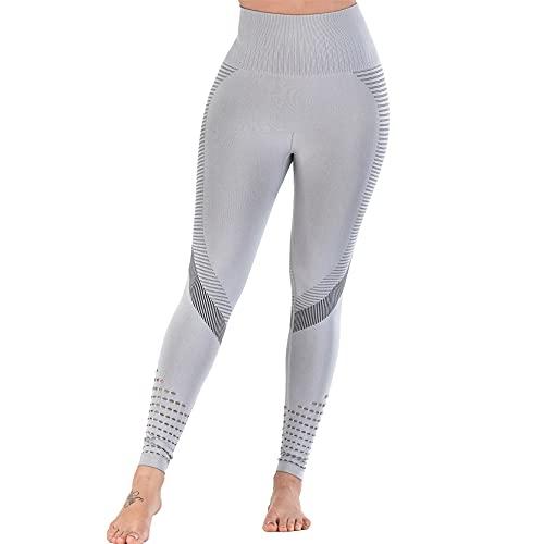 Leggins Mujer Push Up Pantalones Fitness Mallas, Mujeres ahueca hacia fuera los leggings de gimnasio sin fisuras cintura alta cintura elevación flaco de yoga pantalones de entrenamiento de entrenamien