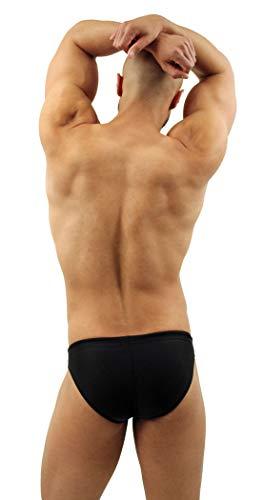 NEPTIO Men's American Flag Swimsuit Stars & Stripes or Solid Color Bikini Swimwear