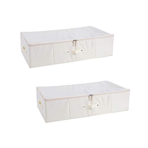 Aitaolian HOMEsn Stoff Bett Aufbewahrungsbox 960D Oxford Tuch, Haushalt Große Flache Kleidung Quilt Sortierorganisation Box 2 Packung
