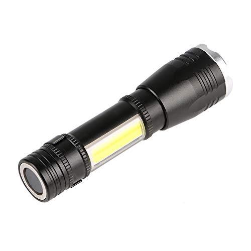 Gaocunh linterna LED linterna de trabajo linterna de mano linterna 2 luz LED linterna foco ajustable 6 modos linterna impermeable para caza, ciclismo, escalada, camping y actividades al aire libre, etc.