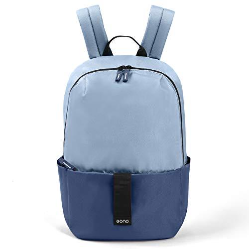 Eono Essentials Sac à Dos Unisexe Ultra-léger et étanche pour l'école, randonnées, Camping, Voyages et activités en extérieur, 20L (Bleu Brumeux)