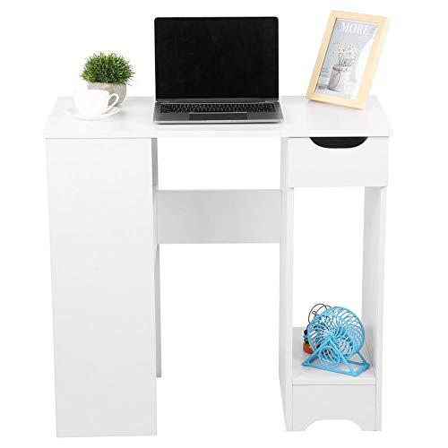 Escritorio para computadora de esquina en forma de H para el hogar Mesa para computadora portátil con estantería para sala de estudio de oficina, resistente y duradera y no se deforma fácilmente.