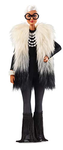 ​Barbie Styled by Iris Apfel Doll with Multi-Hued Vest, Fringed Bell Bottoms and Accessories ​